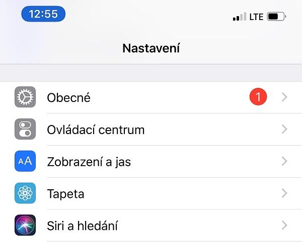 aktualizace software iPhone fotoaparátu