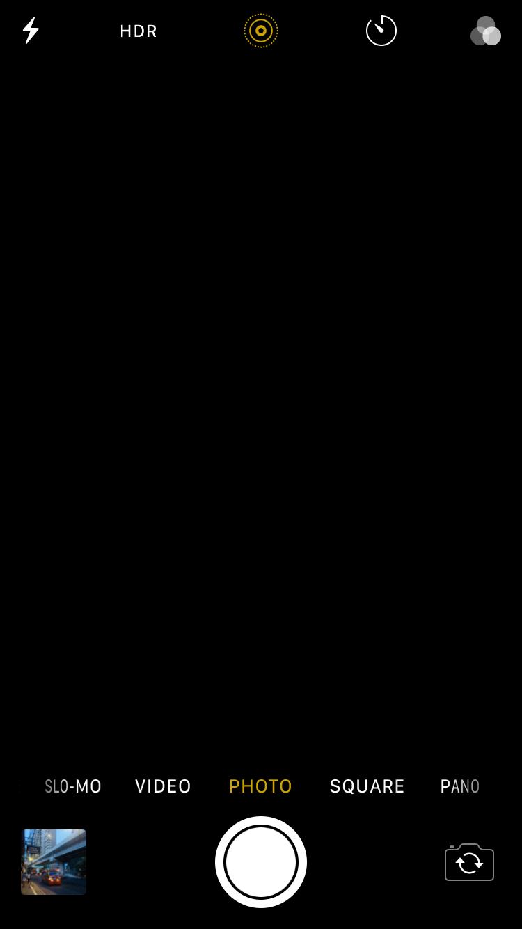 cerna obrazovka iPhone fotak