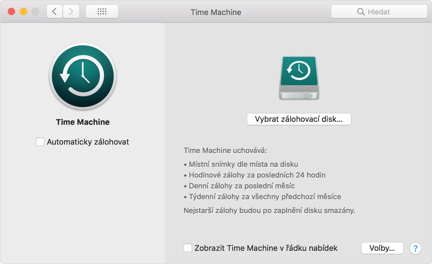 macbook time machine menu