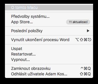 macbook úložiště