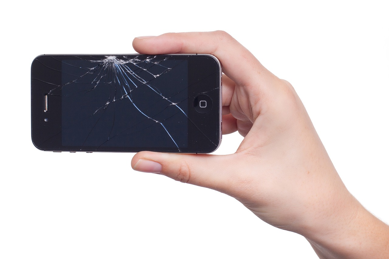 Rozbitý displej iPhone