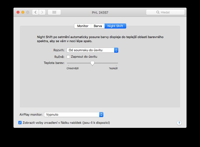 macbook menu a iphone